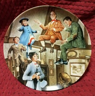 """WALT DISNEY'S MARY POPPINS """"We Love To Laugh"""" KNOWLES 4th Movie Plate W/ COA"""