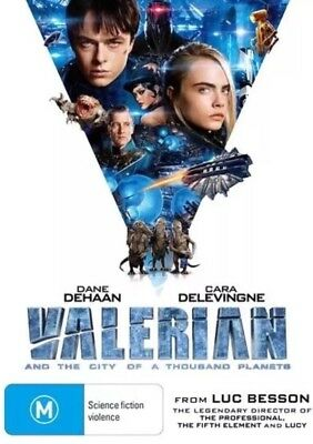 Valerian And The City Of A Thousand Planets Dvd New & Sealed- Free Postage!