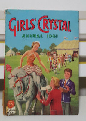Girls' Crystal Annual 1961! Hardcover Book! A Sunshine Annual! Vintage Book!