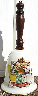 Vintage GORHAM Fine China BELL 1978 Norman Rockwell LOVE'S HARMONY USA Porcelain
