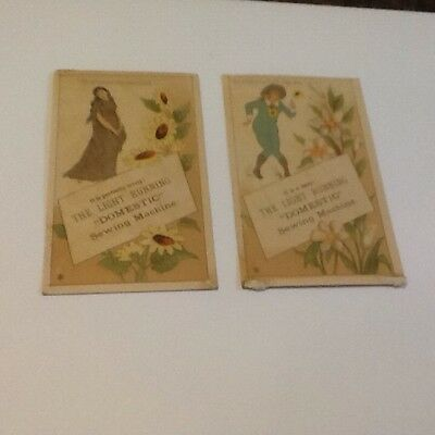 Two Trade Cards Domestic Sewing Machine