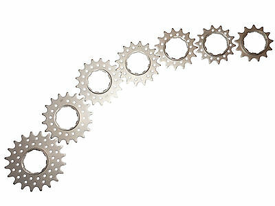 Single Speed Bicycle Cassette Cog Shimano/SRAM Splined Chrome 16/17/18 Tooth