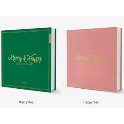 TWICE The 1st Album Repackage [Merry & Happy] (2 Ver. Set) +Poster + TrackingNum