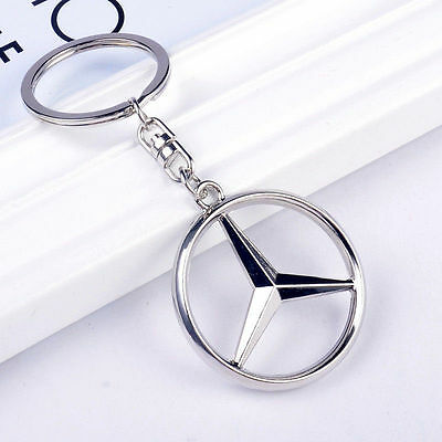 Mercedes-Benz Hollow High Quality  Car Keychain Metal Keychain Present