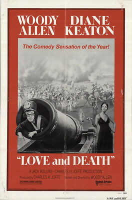 Love and Death 1975 27x41 Orig Movie Poster FFF-64945 Diane Keaton Woody Allen