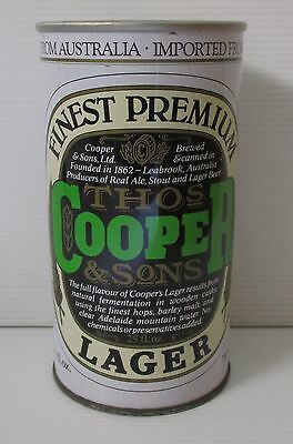 Coopers Premium Lager Beer 740ml steel large can for home bar, pub collector