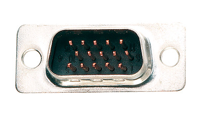 Connector D 15 Way Male Crimp 5Pk
