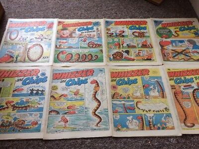 Whizzer And Chips Comics 8 Issues June 1984 - Aug 1984 Bundle Decent IPC