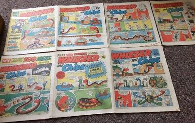 Whizzer And Chips Comics 7 Issues May 1984 - June 1984 Bundle Decent IPC