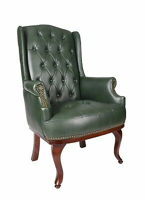 Orthopaedic High Back Chair Winged Armchair Fireside Queen Anne Fireside Leather