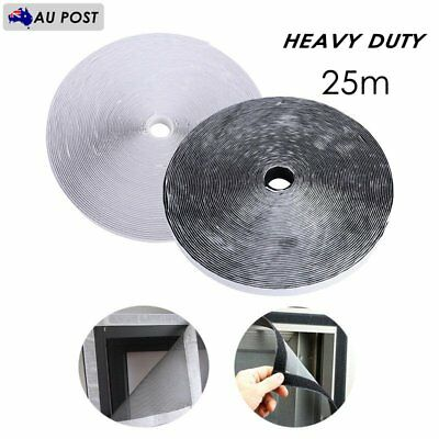 25m Heavy Duty Self Adhesive Sticky Back Hook And Loop Tape Fastening