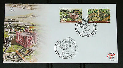 Malta FDC First Day Cover Europa 2017 Castles Issued 9 May 2017