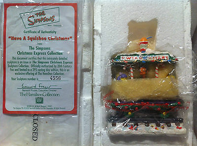 Simpsons Hamilton Sculpture Have A Squishee Christmas Train Very Rare Figure