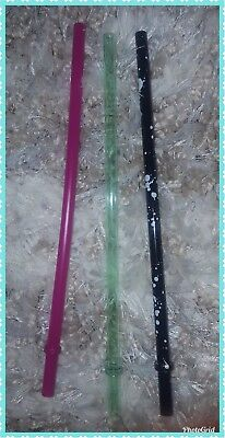STARBUCKS Grande 16 oz 3 Pack Straws Multi-color New