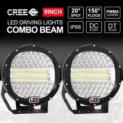 7inch 37500W CREE LED Spot LED Driving Lights Offroad Round Spotlights BLACK