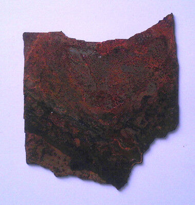 4 Inch Ohio State Shape Rough Rusty Metal Vintage Stencil Ornament Magnet