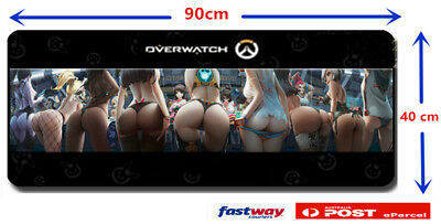 Mouse Pad Overwatch Mat Non Slip Speed Gaming Keyboard PC playmat 90 X 40cm AU