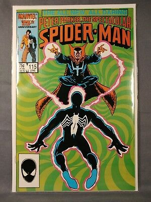 Spectacular Spider-man #115  NM- 1986 Marvel - Doctor Strange Cover