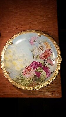 "Antique Limoges Hand Painted Plate  9-1/2"" Made in France Collectors Quality"