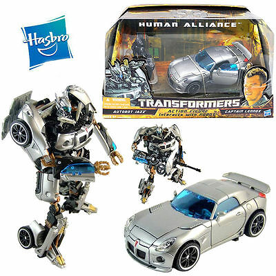 Hasbro Transformers Autobot Jazz Car Captain Lennox Action Figure Robot Kid Toy