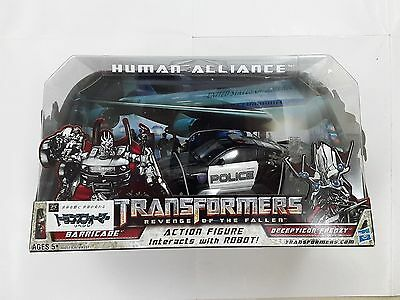 Transformers Human Police Car Alliance Barricade & Frenzy Rd-24 Robot Figure Toy