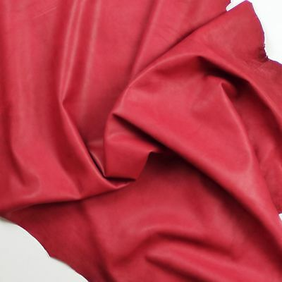 Semi analine leather 0.8mm Ruby red Distressed Soft & smooth BARKERS HIDE N309