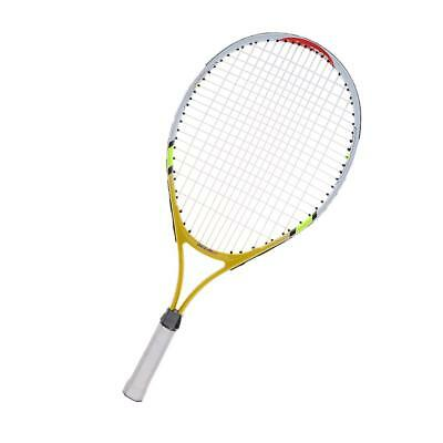 Junior Tennis Racquet Training Racket with Cover for Kids Youth Yellow
