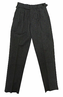 Parcel Of 16 Boys Grey Morning Stripe Trousers Ex Hire 296
