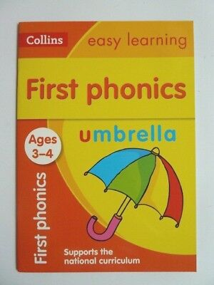 """""""first phonics"""" Collins Easy Learning Preschool Workbook Children Ages 3-4 New!!"""