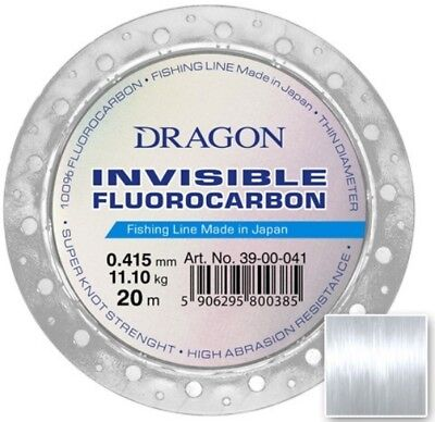 FLUOROCARBON Fishing Line Leader Dragon Invisible MADE IN JAPAN Drop ShotT Pike