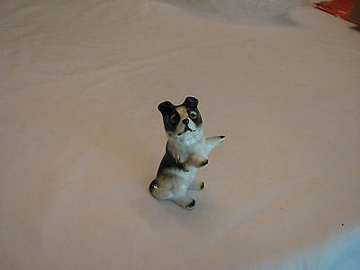 Vintage Border Collie Bone China Porcelain Figurine 3.25 Inches