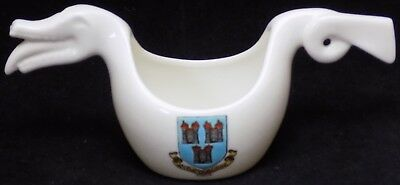 W H Goss Crested Ware 'Model of Norwegian Dragon Shaped Beer Bowl' - Dublin