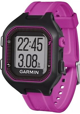 Garmin Forerunner 25 GPS Running Watch - Small, Black/Purple. Brand New Sealed