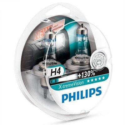 Philips H4 X-treme extreme xtreme Vision Pair 2 Car Bulbs +130% lamps