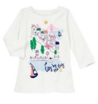 NWT Gymboree Girls Stripes and Anchors White City by the Bay Top Size 4 6 & 8