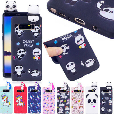 3D Cute Cartoon Silicone Soft TPU Rubber Case Cover For Samsung Huawei iPhone