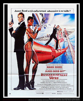 JAMES BOND 007 A VIEW TO KILL 4x6 ft French Grande Movie Poster Original 1985