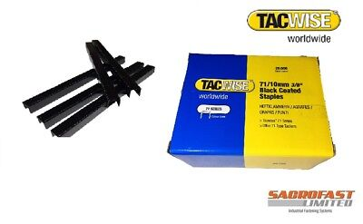 Tacwise 71 Type Staples 10Mm Black - Box 20,000