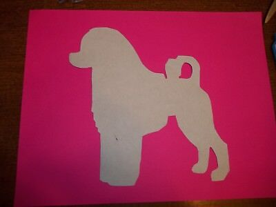 Portuguese Water Dog stacked#4 Car Magnet Hand Cut & Painted U pick style color