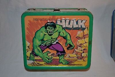 Vintage 1978 Marvel THE INCREDIBLE HULK Aladdin Metal Lunchbox
