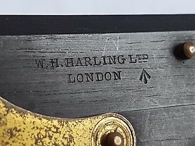 "Antique W H  Harling Ltd 6"" Ebony Parallel Rule Military Broad Arrow Navigation"