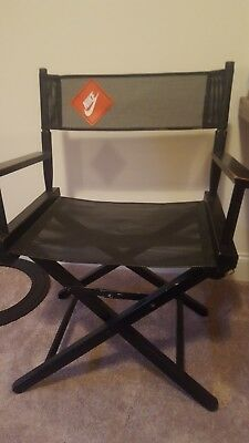 Vintage 1990's Nike Swoosh Director's Chair Store Display Black