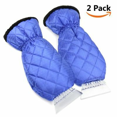 2pcs Snow Removal Tool Ice Scraper Gloves Waterproof for Car RV Truck Windshield