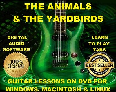 The Animals 79 & The Yardbirds 75 Guitar Tabs Software Lesson CD 17 Backing Trax