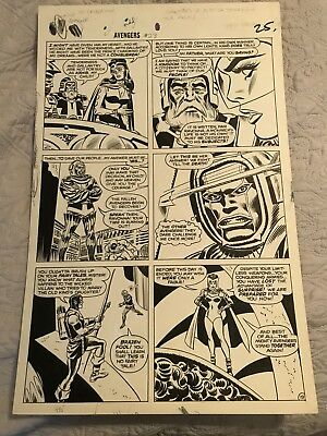 Avengers #23 Page 19 Original Art Heck Pencils Romita Inks awesome page