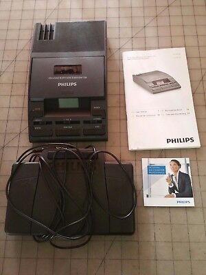 Philips LFH720  Mini Cassette Transcription w/ Foot Pedal - No AC Adapter