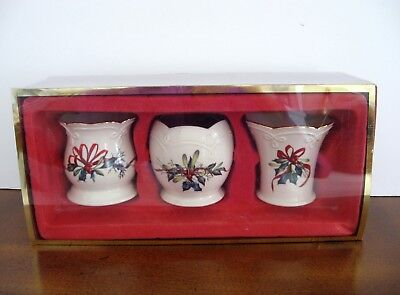 Lenox China Winter Greetings Set of 3 Votive Candle Holders - NEW IN BOX