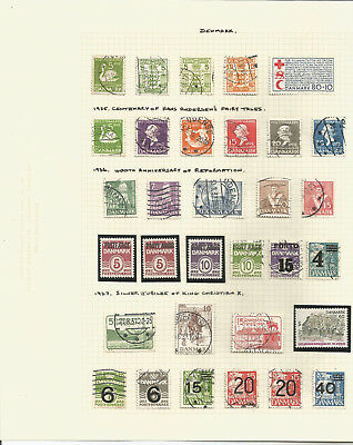 Large Mint & Used Denmark Stamp Collection On Pages 1935 - 1967