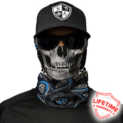 Tapestry Skull Face Shield von SA Company