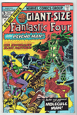 GIANT-SIZE Fantastic Four #5 FN LOT (6) 1975 Marvel Inhumans Black Panther KIRBY